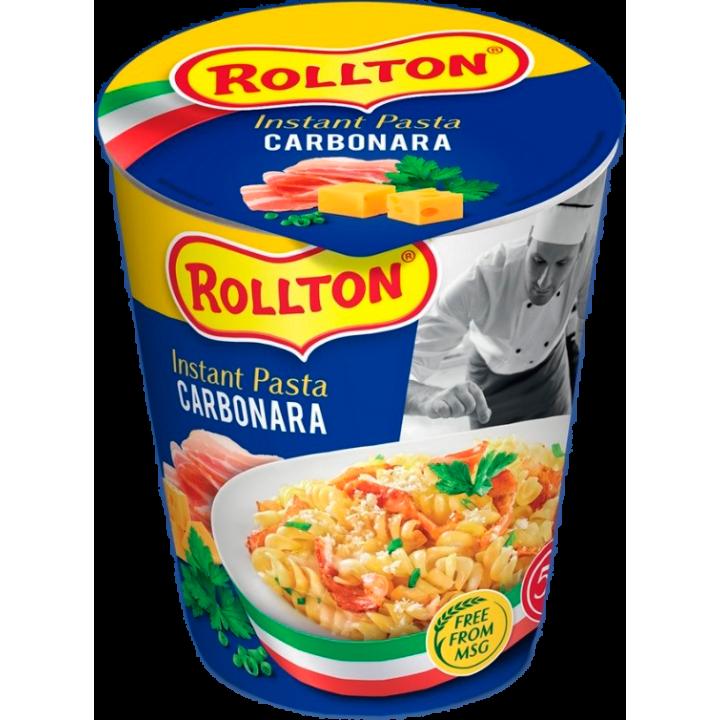 Вироби макаронні швидкого приготування Rollton Instant Pasta Карбонара стакан 70г (4820179255065)