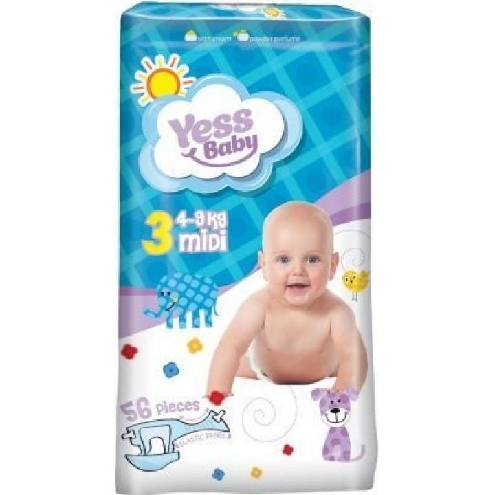 Підгузки Yess Baby Jumbo Midi 4-9 кг 56шт.