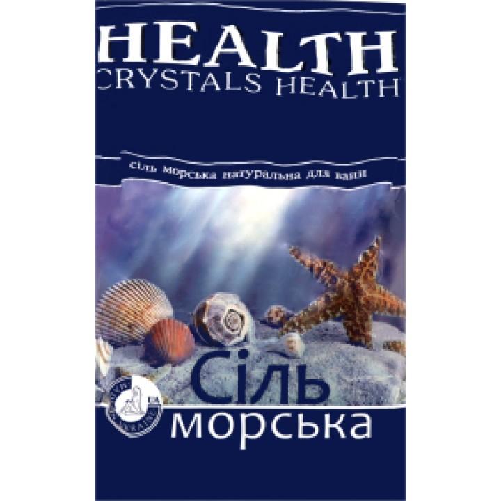 """Сіль морська  натуральна """"Crystals Health"""" для ванн 1кг  (4820106490194)"""