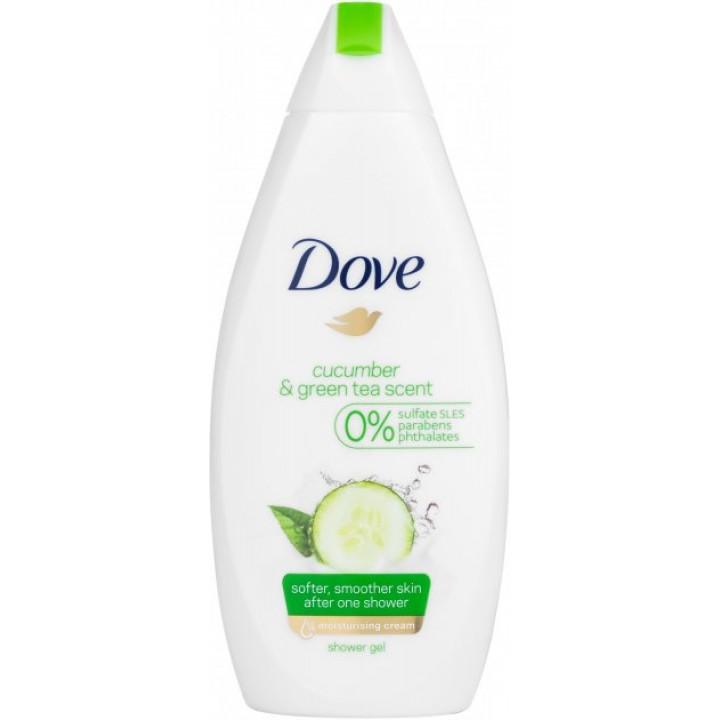 Крем-гель для душу Dove Дотик свіжості з зеленим чаєм та огірком 500 мл (8712561611145)