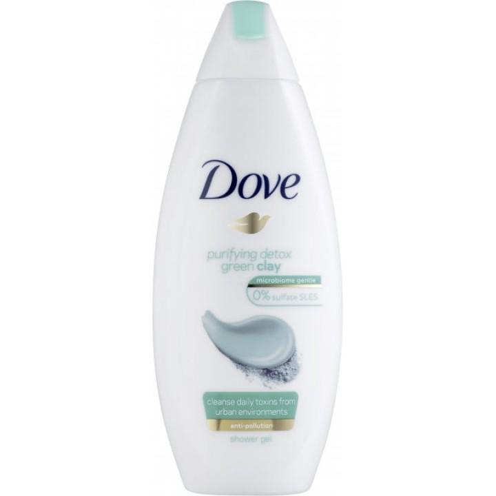 Крем-гель для душу Dove Очищення із зеленою глиною 250 мл (8717163684818)