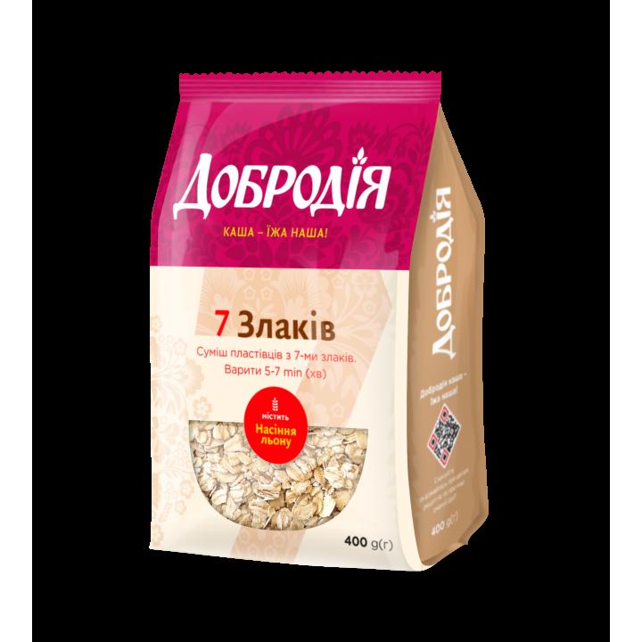 Суміш пластівців Добродія 7 злаків 400 г (4820182201196)