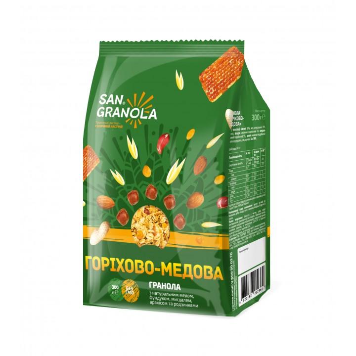 Гранола горіхово-медова San Granola 300 г (4820182202360)