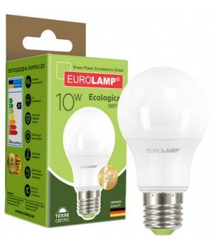 Світлодіодна лампа Eurolamp LED E27 10W 10 pcs WW A60 (LED-A60-10273(D))