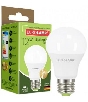 Світлодіодна лампа EUROLAMP А60 12W E27 3000K (LED-A60-12273(P))