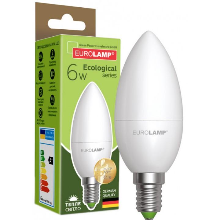 Світлодіодна лампа EUROLAMP CL 6W E14 3000K (LED-CL-06143(P))