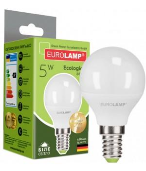 Світлодіодна лампа EUROLAMP G45 5W E27 4000K (LED-G45-05274(P))