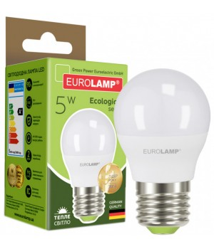 Світлодіодна лампа EUROLAMP G45 5W E27 3000K (LED-G45-05273(P))