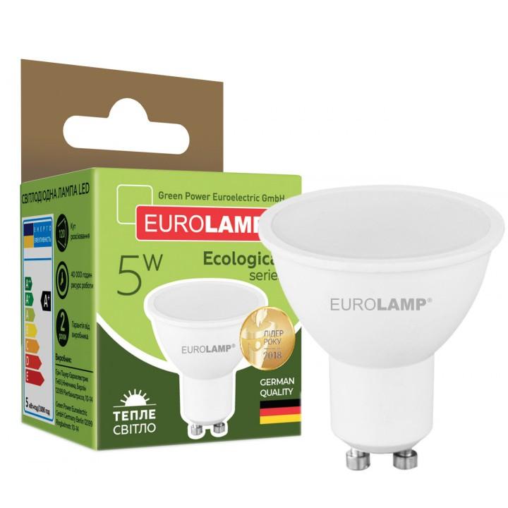 Світлодіодна лампа EUROLAMP SMD MR16 5W GU10 3000K (LED-SMD-05103(P))