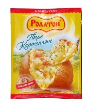 Пюре картопляне Rollton зі смаком курки 37 г
