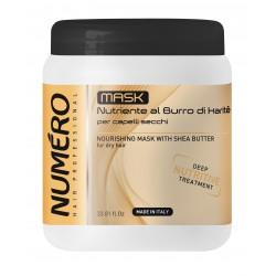 Маска для волосся Numero живильна з оліями Каріте (Ши) та авокадо, 1 л