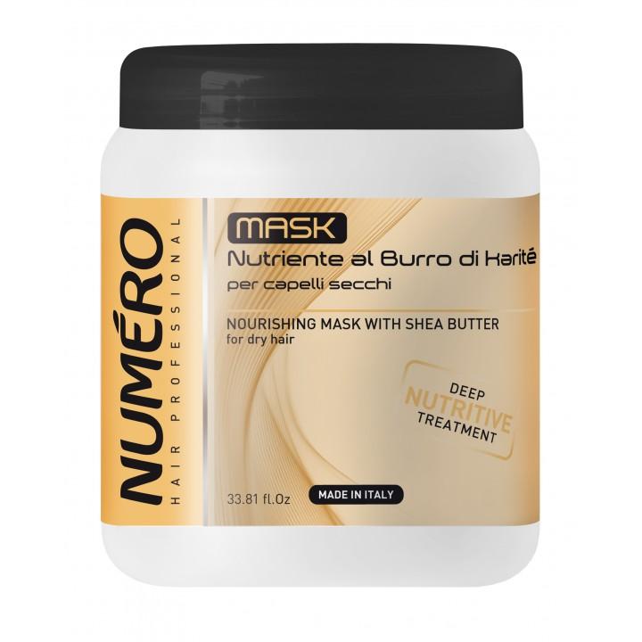 Маска для волосся Numero живильна з оліями Каріте (Ши) та авокадо, 1 л (8011935069712)