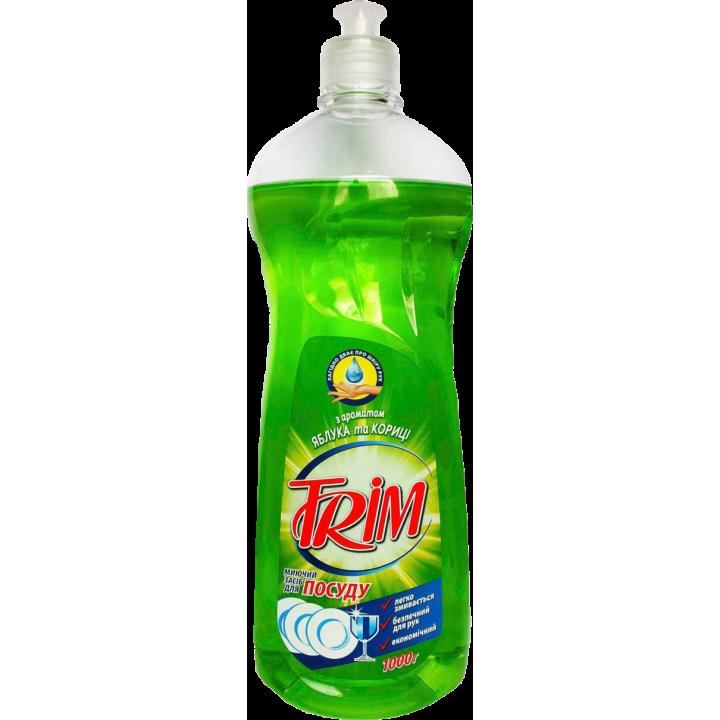 Миючий засіб Trim Dishwashing Liquid з ароматом яблука і кориці 1л (4820074491117)