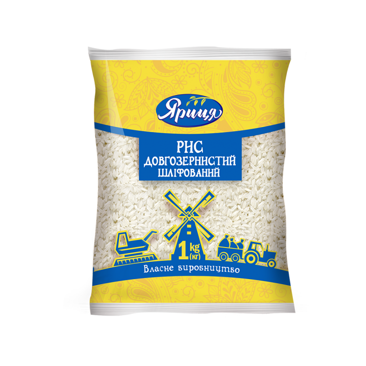 Рис Яриця довгозернистий шліфований 1 кг
