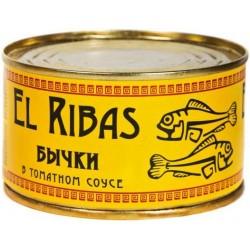 Бички у томатному соусі, ж/б № 5 El Ribas 240 г
