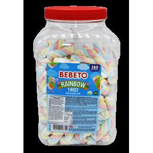 """Цукерки-маршмелоу Bebeto""""Веселковийтвіст""""3,5 г x 180 шт. (8690146143352)"""