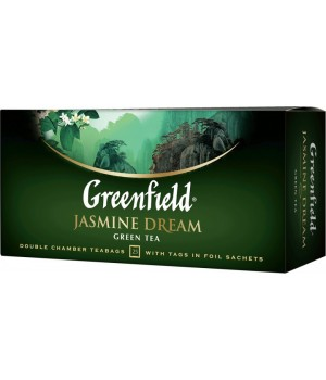 Чай зелений Greenfield Jasmine Dream з жасмином 25х2 г
