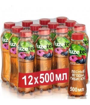 """Чай чорний Fuzetea """"Лісові ягоди - гібіскус"""" 0,5 л (5449000259455)"""