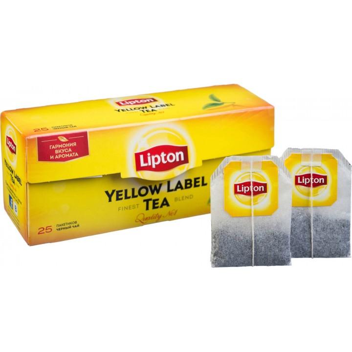 Чай чорний Lipton Yellow Label 25 х 2 г (4823084200038)