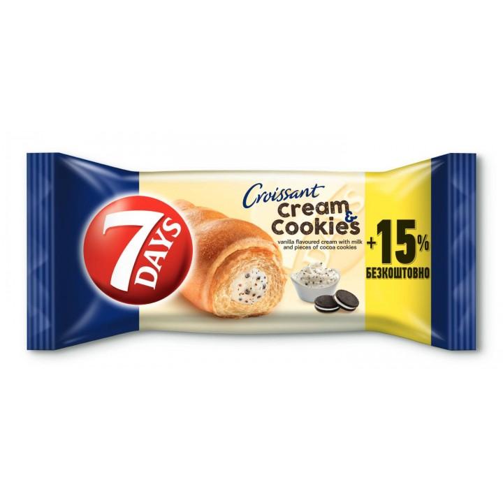 Круасан 7DAYS крем ваніль з шоколадним печивом110 г (5201360531936)