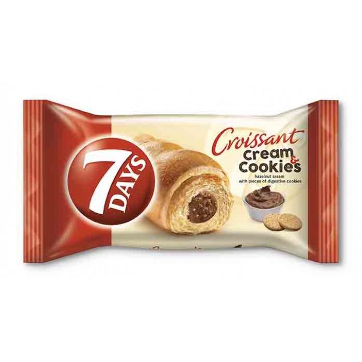 Круасан 7DAYS горіховий крем з печивом 60 г (5201360531318)