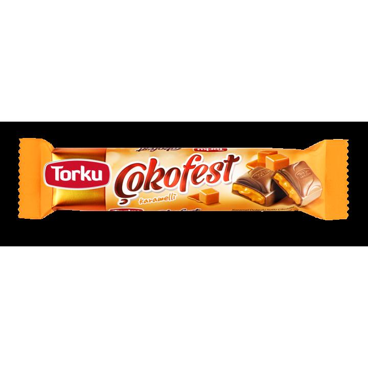 Шоколад TorkuCokofestмолочнийзкарамельноюначинкою35 г (8690120042114)