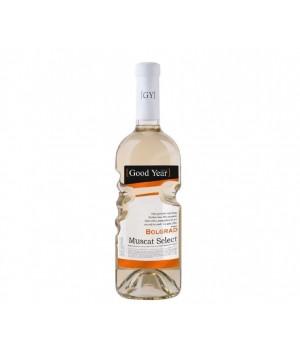 Вино Bolgrad Muscat Select біле напівсолодке 0,75 л