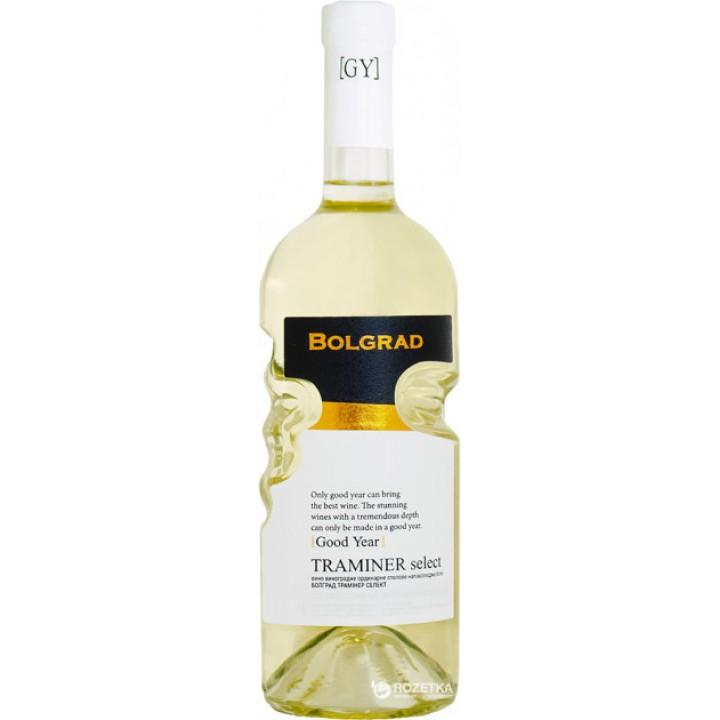 Вино Bolgrad Traminer Select біле напівсолодке 0,75 л
