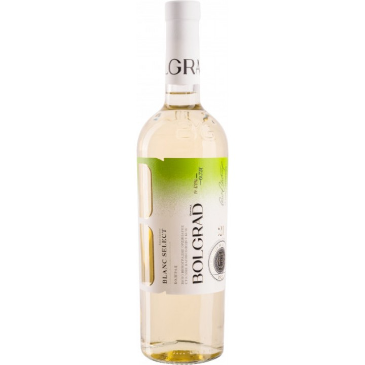 Вино Bolgrad Blanc Select біле напівсолодке 0,75 л