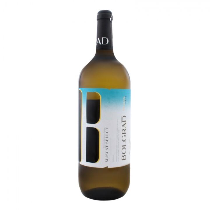 Вино Bolgrad Muscat Select біле напівсолодке 1,5 л