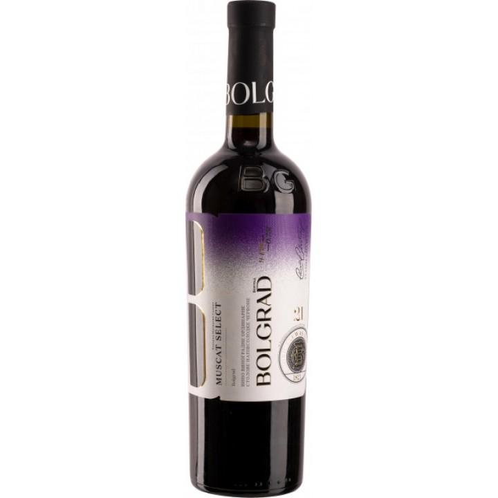 Вино Bolgrad Muscat Select червоне напівсолодке 0,75 л