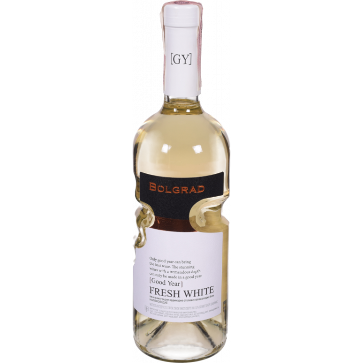 Вино Bolgrad Fresh White біле напівсолодке 0,75 л