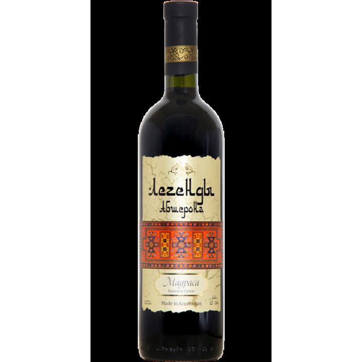 "Вино ""Легенди Абшерона"" Мадраса червоне сухе 0,75 л"