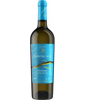 Вино Savalan Chardonnay біле сухе 0,75 л