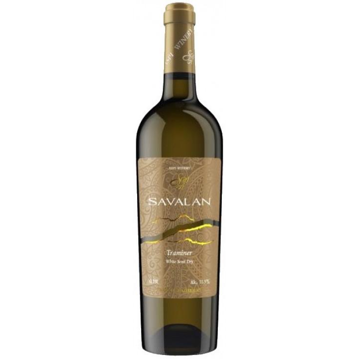 Вино Savalan Traminer біле напівсухе 0,75 л