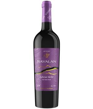 Вино Savalan Cabernet-Merlot червоне напівсолодке 0,75 л