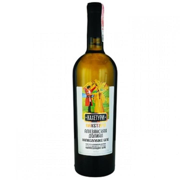 """Вино """"Кахетурі"""" Алазанська долина біле напівсолодке 0,75 л"""