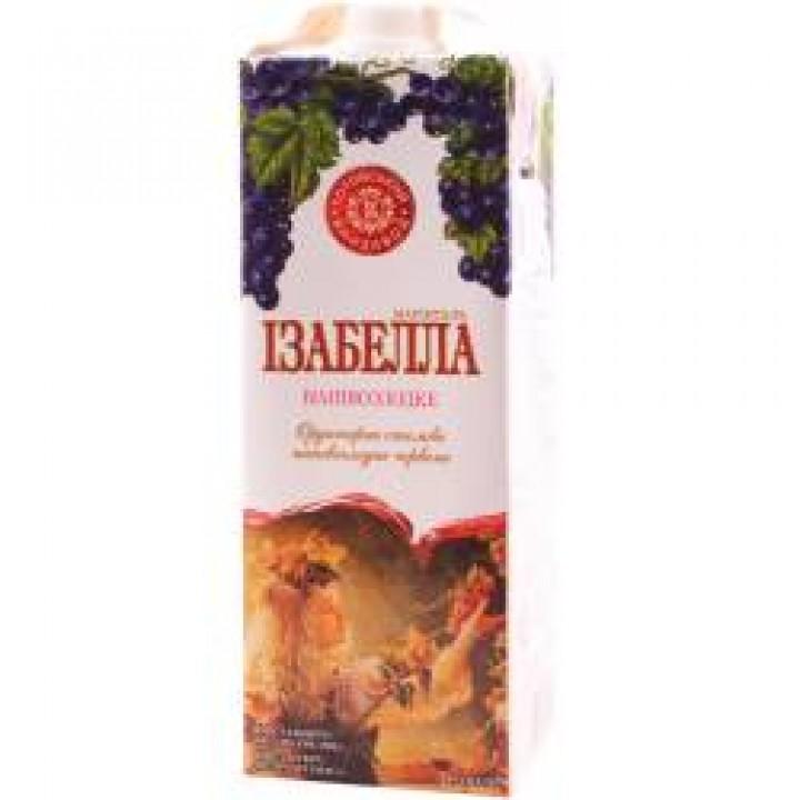 """Вино """"Ізабелла Марінталь"""" червоне напівсолодке 1 л"""