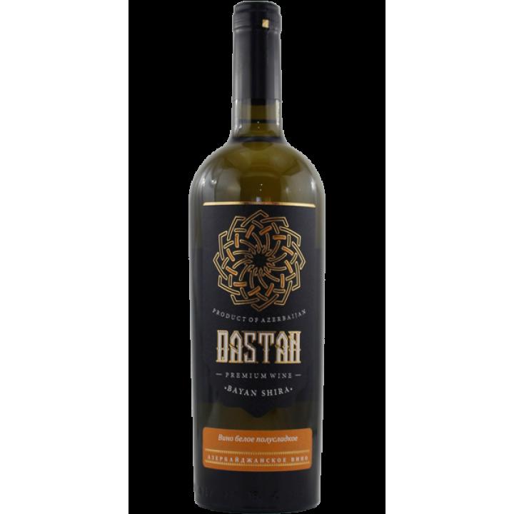 "Вино ""Дастан"" Баян-шира біле напівсолодке 0,75 л"