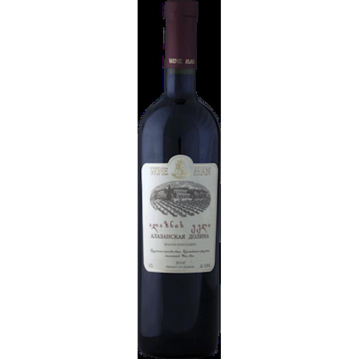 Вино Wine Man Алазанська долина червоне напівсолодке 0,75 л