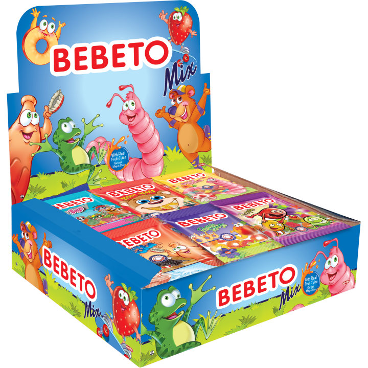 """Цукерки жувальні Bebeto""""Асорті"""" 18г x 36шт. (8690146090199)"""