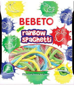 """Цукерки жувальніBebeto""""Спагеті.Веселка""""80 г (8690146122814)"""