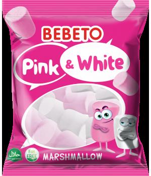 """Цукерки-маршмелоу Bebeto""""Білийтарожевий""""135 г (8690146091905)"""
