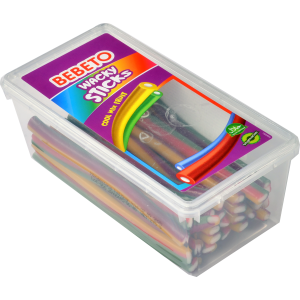 """Цукерки жувальні Bebeto""""Шаленіпалички.Фруктовеасорті""""8,5г x 156шт. (8690146150411)"""
