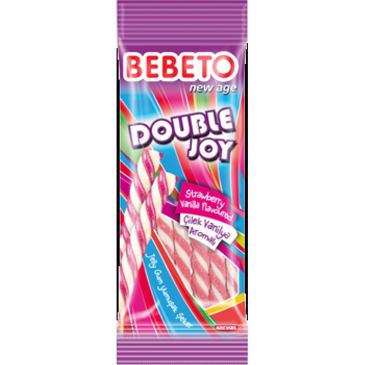 """Цукерки жувальні Bebeto """"Подвійна радість. Полуниця - ваніль"""" 75 г (8690146134497)"""