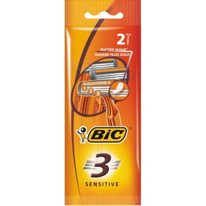 Станок одноразовий BIC 3 Sensitive 2 шт. (3086123221673)
