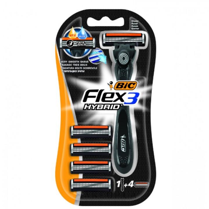 Станок BIC Flex 3 Hybrid зі змінними картриджами 1 шт. (3086123273504)