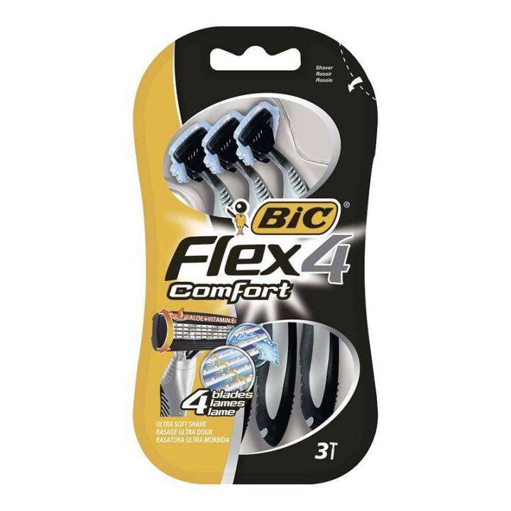 Станок одноразовий BIC Flex 4 Comfort 3 шт. (3086123220614)