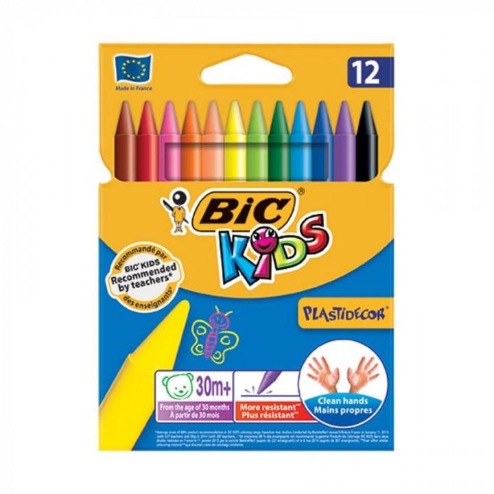 Крейда воскова Kids PlastiDecor 12 шт. (3086126616834)