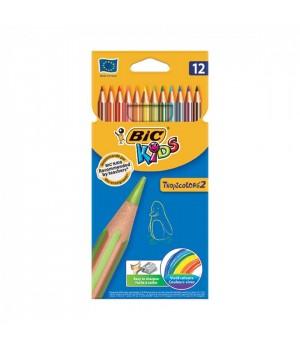Олівці кольорові BIC Tropicolors 12 шт. (3270220022503)